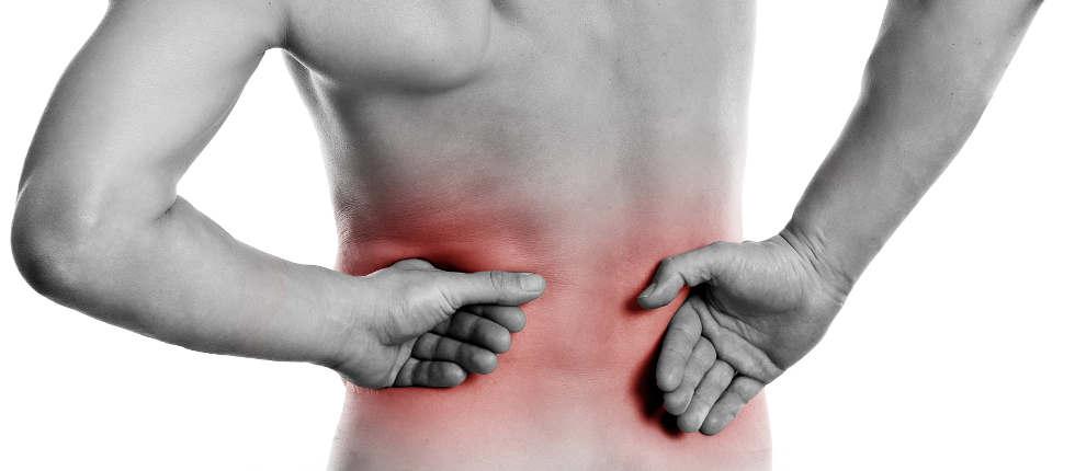 Rücken schmerzt an unterschiedlichen Schmerzzonen im Rücken