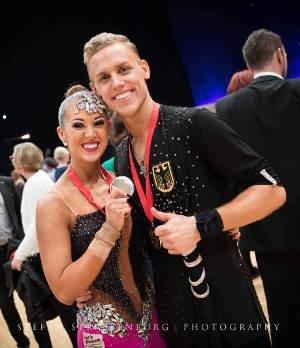 Manuel Endres mit Tanzpartnerin