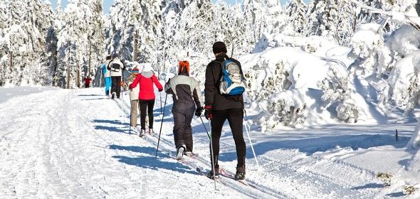 Skilanglauf ist die Alternative zum Joggen im Winter