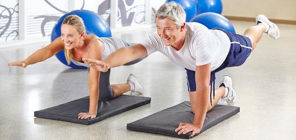 Wirbelsäulengymnastik zur Stärkung des Rückens