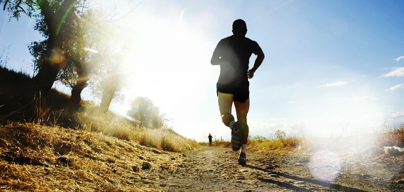 Joggen kann helfen Bein- und Rückenmuskulatur zur trainieren