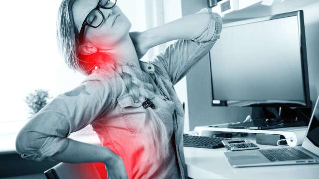 Unterschiedliche Arten von Rückenschmerzen am Rücken